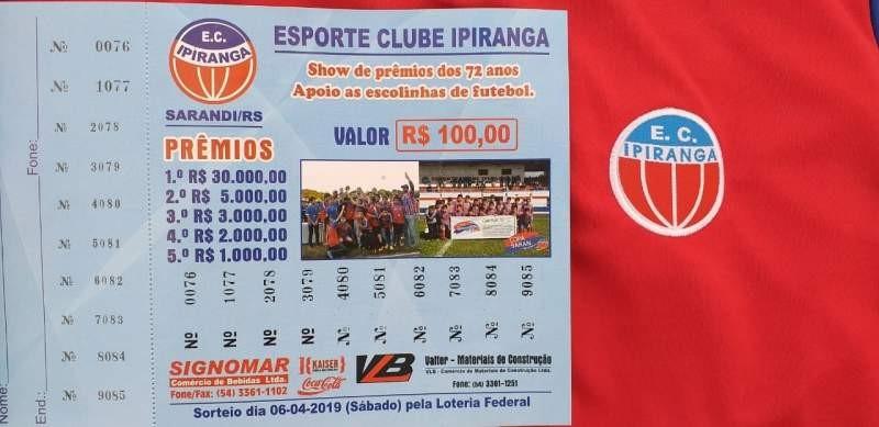 Esporte Clube Ipiranga comemora o sucesso de vendas dos números da Ação Entre Amigos